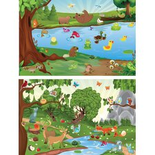 <strong>Mona Melisa Designs</strong> Peel and Play Travel Forest/Lake Wall Decal