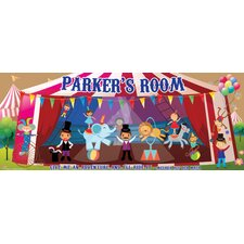 Classic Circus Name Sign Wall Mural