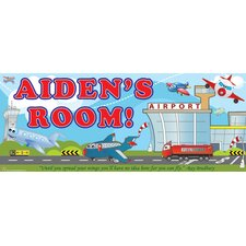 Planes Name Sign Wall Mural