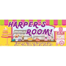Sweet Shop Girl Name Wall Plaque