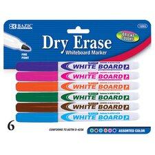 Fine Tip Dry-Erase Marker (6 Pack)