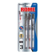 Rome Jumbo Rollerball Pen with Grip (Set of 3)