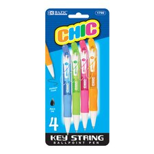 Chic Mini Retractable Pen (Set of 4)