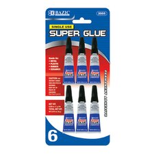 Single Use Super Glue (Set of 6)