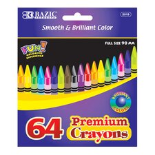 <strong>Bazic</strong> 48 Premium Quality Color Crayon Set