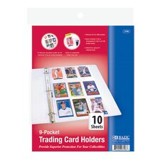 Top Loading 9-Pockets Sports Card Holder4 (Set of 10)