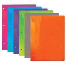 <strong>Bazic</strong> Translucent 2-Pockets Poly Portfolio (Set of 48)