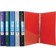 <strong>Bazic</strong> Matte Color Poly 3-Ring Binder with Pocket (Set of 48)