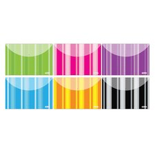 <strong>Bazic</strong> Stripes Poly Letter Size Document Holder (Set of 2)