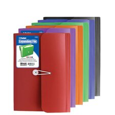 <strong>Bazic</strong> 7-Pocket Letter Size Poly Expanding File (Set of 12)