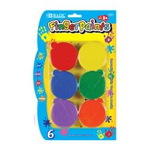 <strong>Bazic</strong> Finger Paint (Set of 6)