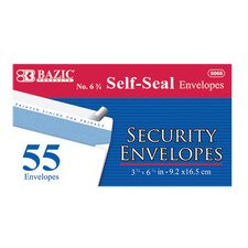 55 Ct. Self-Seal Security Envelopes (Set of 24)