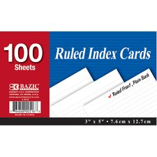 Ruled Index Card (Set of 36)