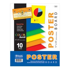 10 Ct. Multi Color Poster Boards (Set of 11)
