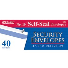 40 Ct. Self-Seal Security Envelopes (Set of 24)