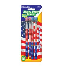 US Flag Multi-Point Pencil (Set of 6) (Set of 6)