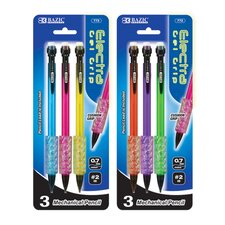 Electra 0.7 mm Fashion Color Mechanical Pencil with Gel Grip (Set of 3)