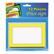 12 Ct. Blank Price Sign (Set of 24)