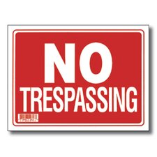No Trespassing Sign (Set of 24)