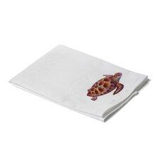 Coastal Green Sea Turtle Hand Towel (Set of 2)