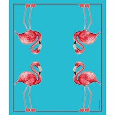 Flamingo Polyester Throw