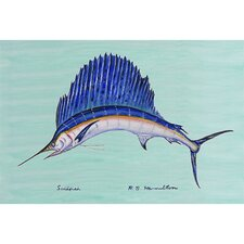 Coastal Sailfish Outdoor Wall Hanging