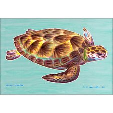 <strong>Betsy Drake Interiors</strong> Coastal Sea Turtle Door Mat