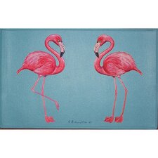 Coastal Flamingo Door Mat