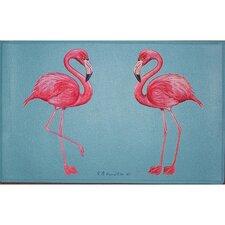 Coastal Flamingo Door Mat