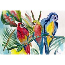 Garden Parrot Family Outdoor Wall Hanging