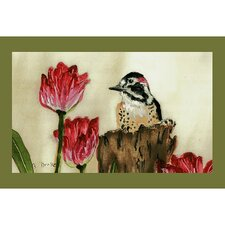 Garden  Woodpecker Door Mat