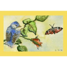 <strong>Betsy Drake Interiors</strong> Garden  Blue Bird Door Mat