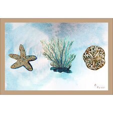 Coastal Blue Coral Door Mat