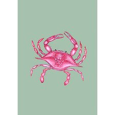 Pink Crab Vertical Flag