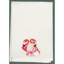 Coastal Two Flamingos Hand Towel (Set of 2)