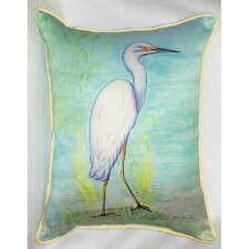 Coastal Snowy Egret Indoor / Outdoor Pillow