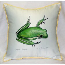 <strong>Betsy Drake Interiors</strong> Garden Treefrog Indoor / Outdoor Pillow