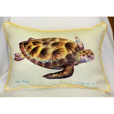 Coastal Green Sea Turtle Indoor / Outdoor Pillow