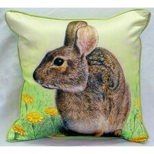 <strong>Betsy Drake Interiors</strong> Garden Rabbit Indoor / Outdoor Square Pillow