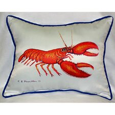 <strong>Betsy Drake Interiors</strong> Coastal Lobster Indoor / Outdoor Pillow