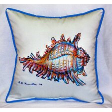 <strong>Betsy Drake Interiors</strong> Coastal Conch Indoor / Outdoor Pillow