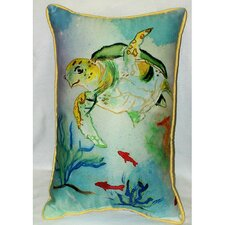 <strong>Betsy Drake Interiors</strong> Coastal Sea Turtle Indoor / Outdoor Pillow