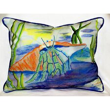 <strong>Betsy Drake Interiors</strong> Coastal Hermit Indoor / Outdoor Pillow