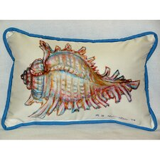 <strong>Betsy Drake Interiors</strong> Coastal Conch Shell Indoor / Outdoor Pillow