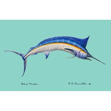 Coastal Blue Marlin Outdoor Wall Hanging