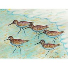 Coastal Sandpipers Outdoor Wall Hanging