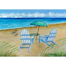 <strong>Betsy Drake Interiors</strong> Coastal Adirondack Chairs Outdoor Wall Hanging
