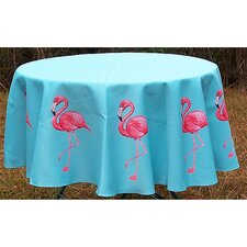 Flamingo Round Tablecloth