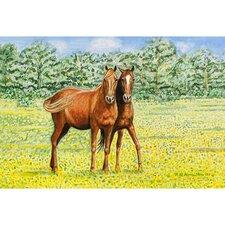 Garden Pets Horses Door Mat