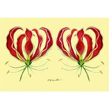 Garden Red Lily Door Mat